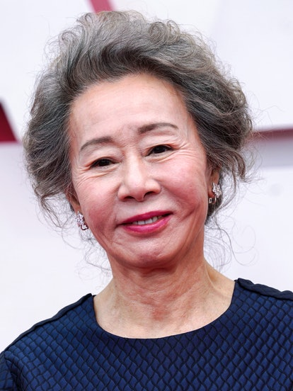 LOS ANGELES, CALIFORNIA – APRIL 25: Youn Yuh-jung attends the 93rd Annual Academy Awards at Union Station on April 25, 2021 in Los Angeles, California.