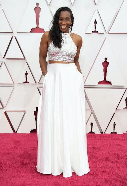 Mia Neal at the 2021 Oscars