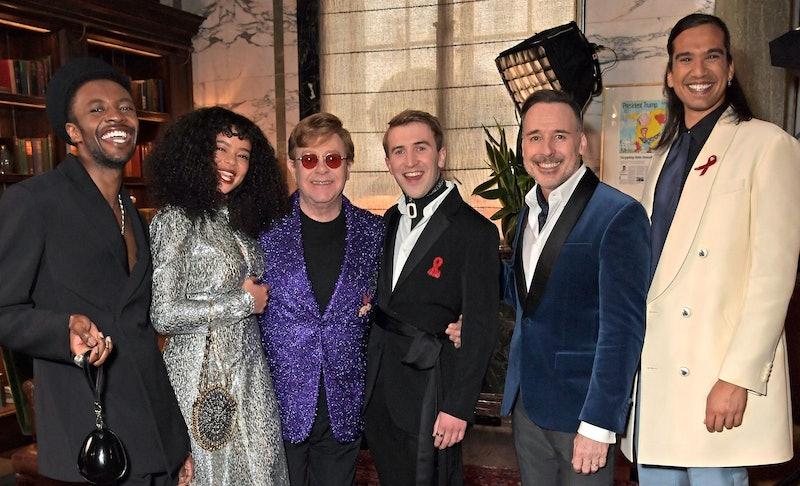 'It's A Sin' cast at Elton John's pre-Oscars party.