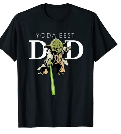 Star Wars Yoda Lightsaber Best Dad Father's Day T-Shirt