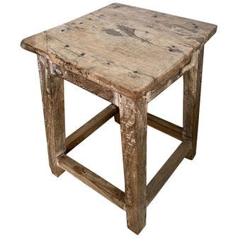 Rustic Antique Chinese Stool or Side Table