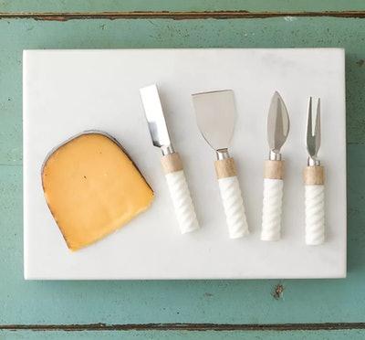 Marble + Wood Cheese Serving Set