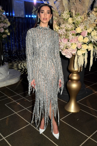 In this image released on April 25, Dua Lipa attends the 29th Annual Elton John AIDS Foundation Acad...