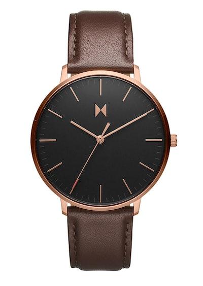 MVMT Legacy Slim Leather Strap Watch