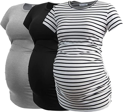 Smallshow Maternity Ruched Tunic (3-Pack)