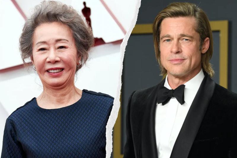 Youn Yuh-jung gave a shoutout to Brad Pitt during her Oscars acceptance speech.