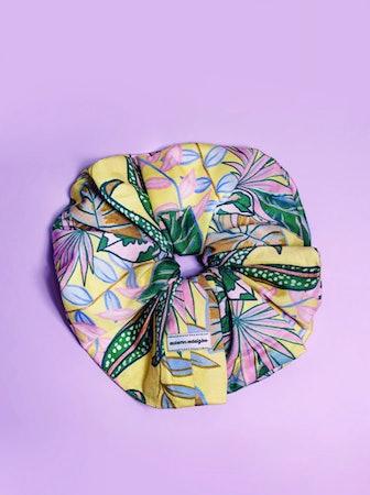 Mint Floral Scrunchie