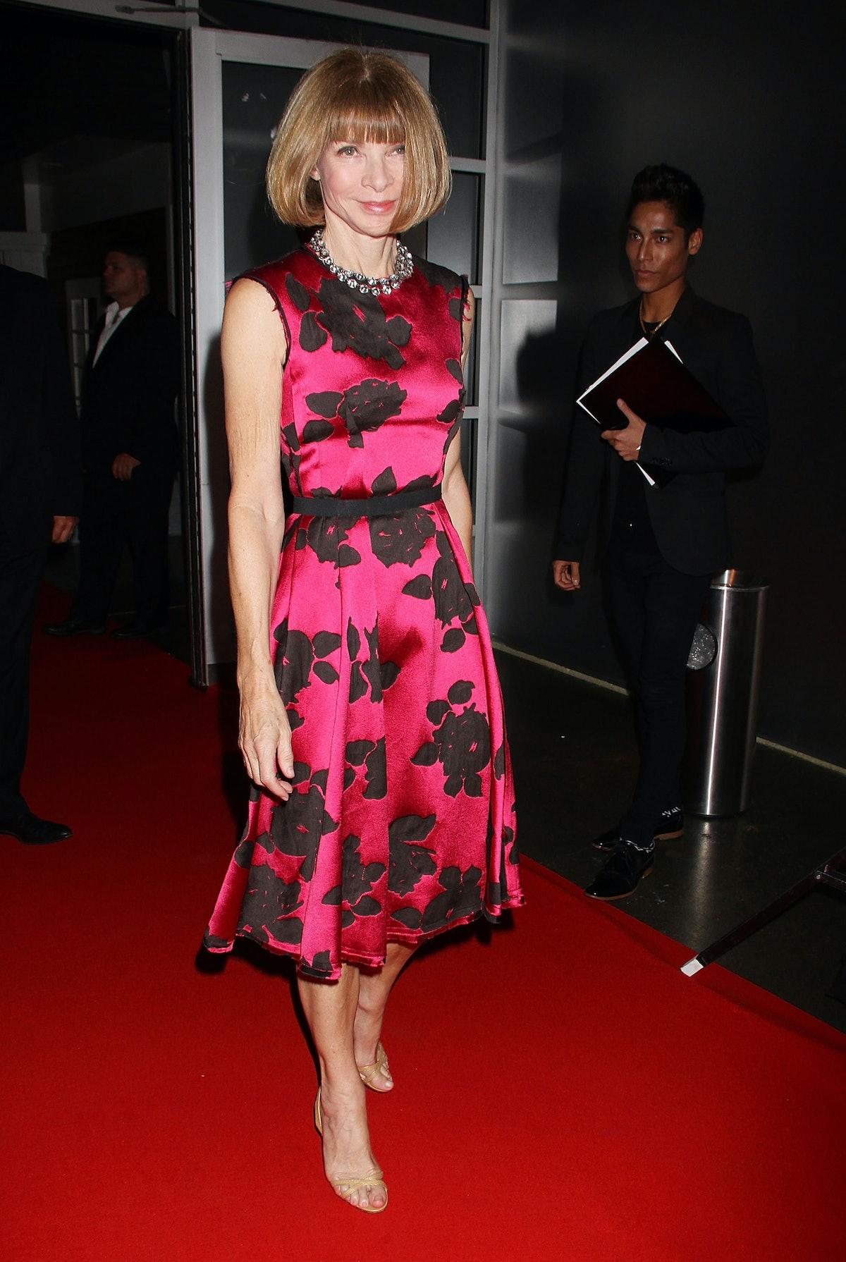 Anna Wintour in pink Lanvin.
