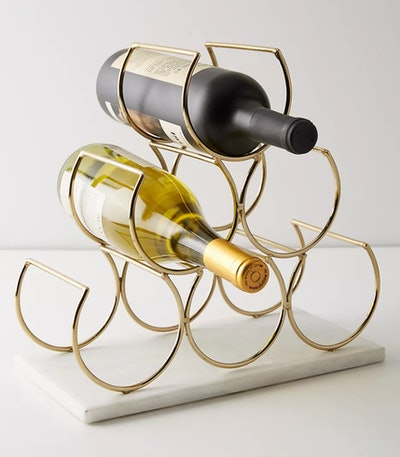 Marble Wine Rack in Gold