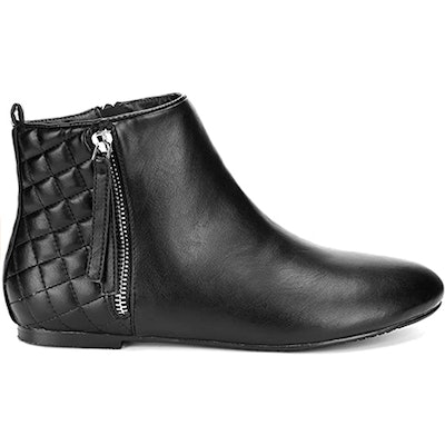 MaxMuxun Flat Ankle Boots