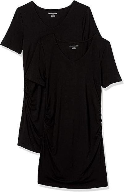 Amazon Essentials Maternity V-Neck T-Shirt (2-Pack)