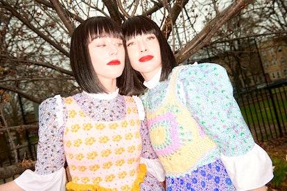 Batsheva x Ella Emhoff knit collaboration 2021.