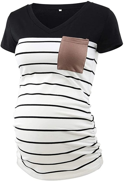 Ecavus Maternity T-Shirt With Pocket