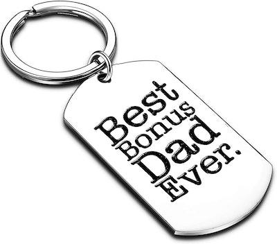 Best Bonus Dad Ever Keychain