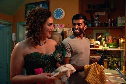Rose Matafeo as Jessie and Nikesh Patel as Tom in 'Starstruck'