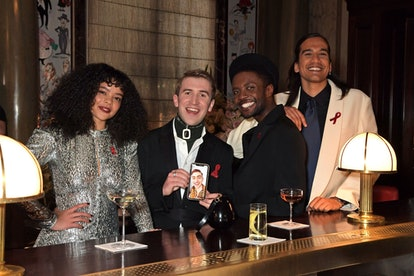 'It's A Sin's cast at Elton John's pre-Oscars party.
