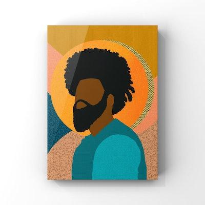 SagMoonPaperCo - Confident, Black Man Collage Illustration