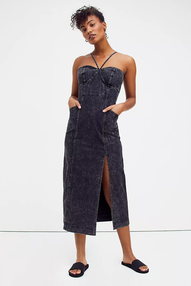 Luanna Denim Midi Dress