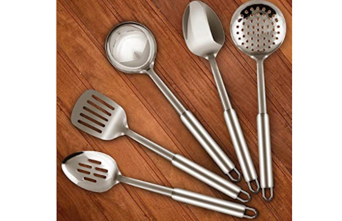 Utopia Kitchen Stainless Steel Cooking Utensil Set (5 Pieces)