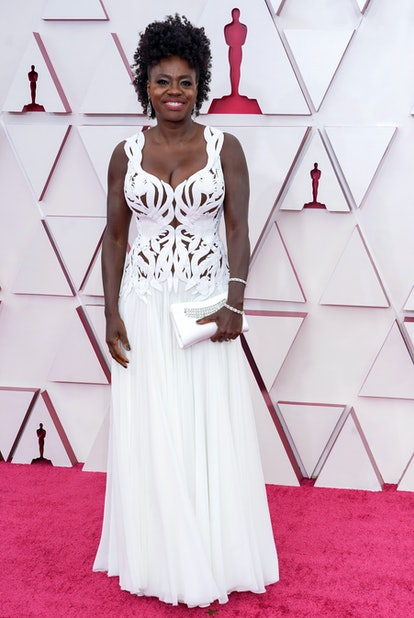 Viola Davis 2021 Oscars red carpet