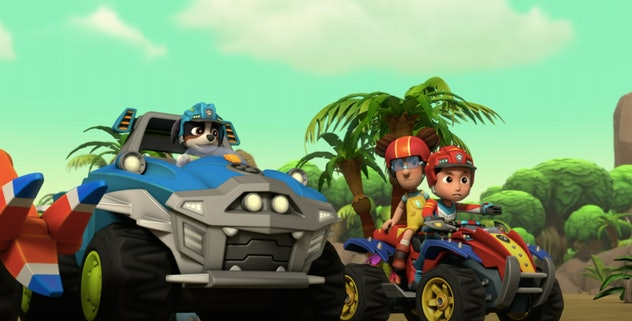 The cast of 'Paw Patrol' in cars