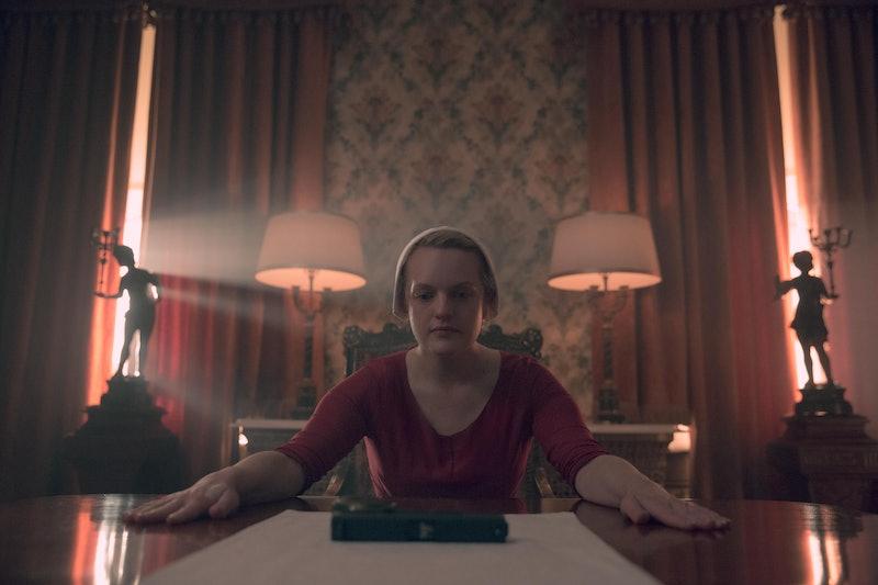 Elisabeth Moss as June in The Handmaid's Tale via Hulu Press Site