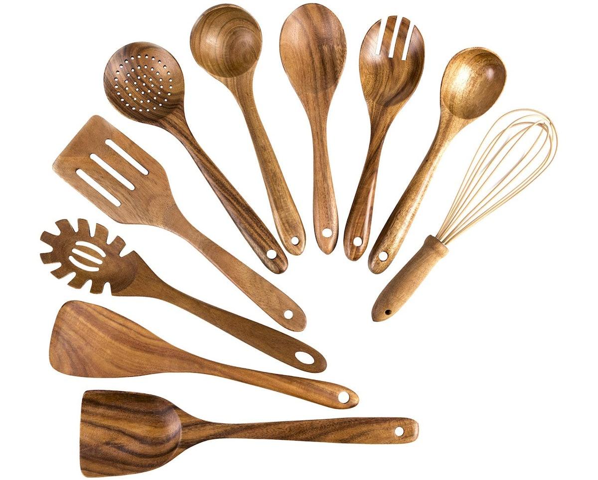 ADT Wooden Cooking Utensils (10 Pieces)