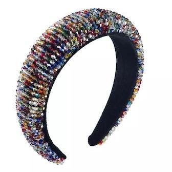 Multicolor Beaded Headband