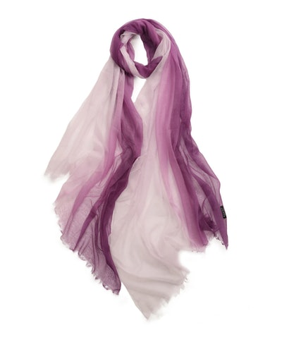 Gradient Cashmere Women Scarf in Purple White