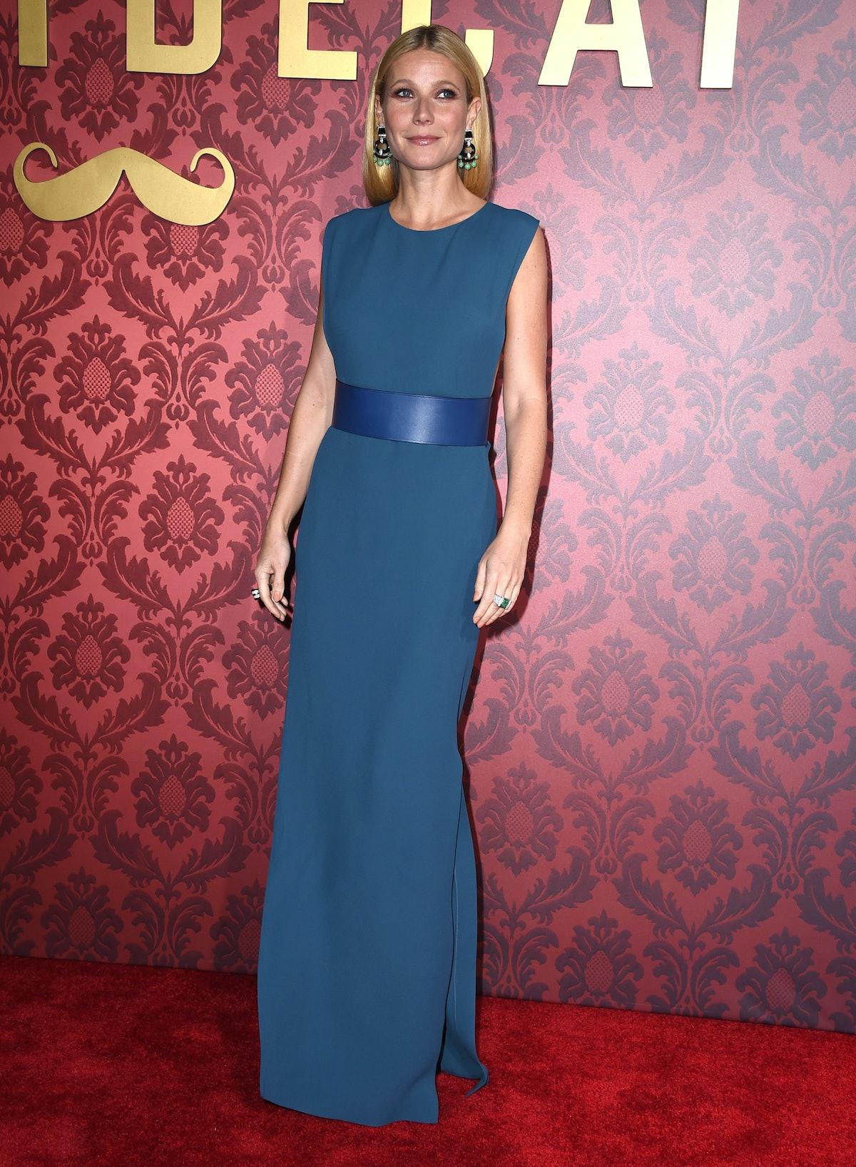 Gwyneth Paltrow in blue Lanvin gown.