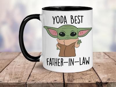 Yoda Best Father in Law Mug in Black Handle