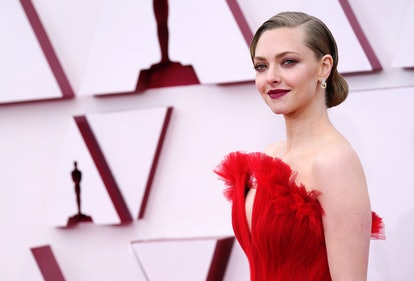 LOS ANGELES, CALIFORNIA – APRIL 25: Amanda Seyfried attends the 93rd Annual Academy Awards at Union Station on April 25, 2021 in Los Angeles, California.