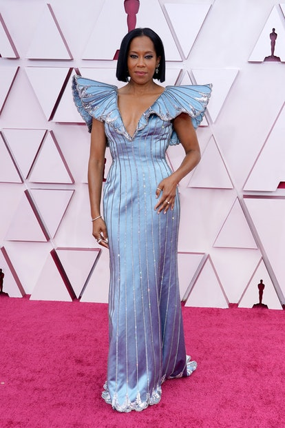 Regina King attends the 93rd Annual Academy Awards at Union Station on April 25, 2021 in Los Angeles...