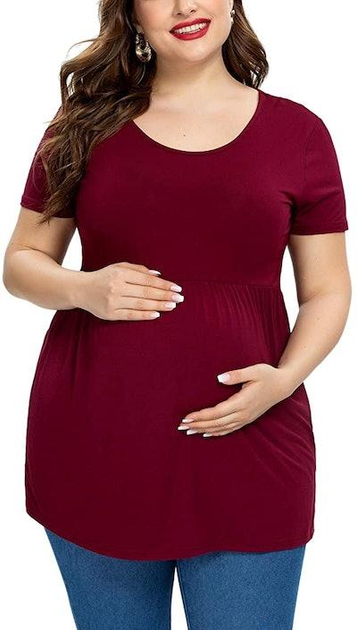 Jezero Plus Size Maternity Top