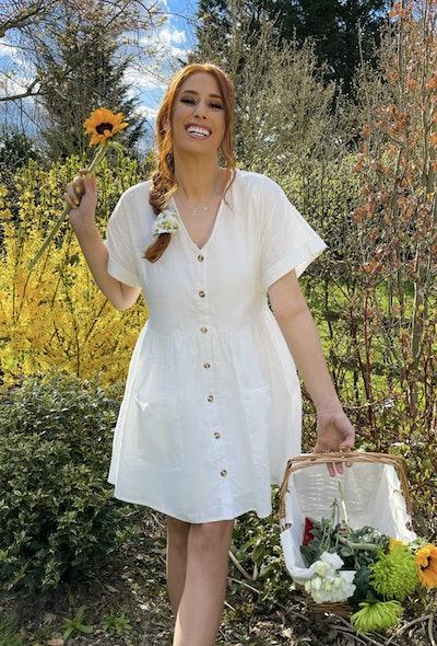 White Linen Smock Dress