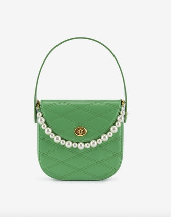 Kate Faux Pearl Bag Grass Green