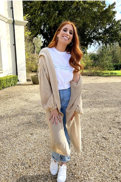 Camel Oversized Knitted Hoodie