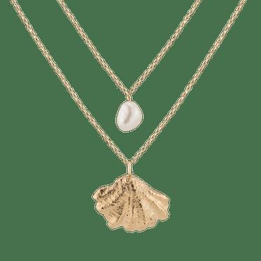 Venus Organic Pearl Gold Necklace Set