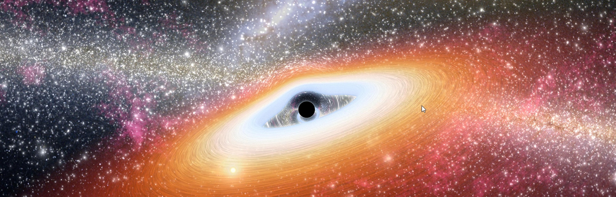 Supermassive black holes, such as the one seen in this artist's depiction, are known to lurk in the ...