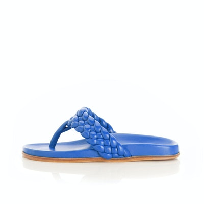 Carly Braided Leather Thong Sandal