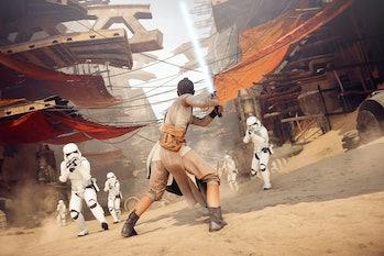star wars battlefront 2 rey stormtroopers