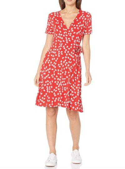 Amazon Essentials Cap-Sleeve Faux-Wrap Dress