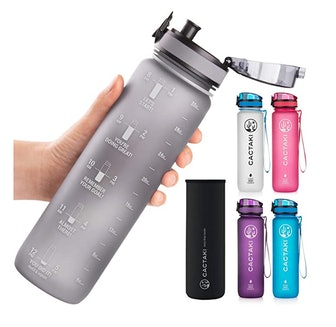 Cactaki 32 oz Water Bottle with Time Marker