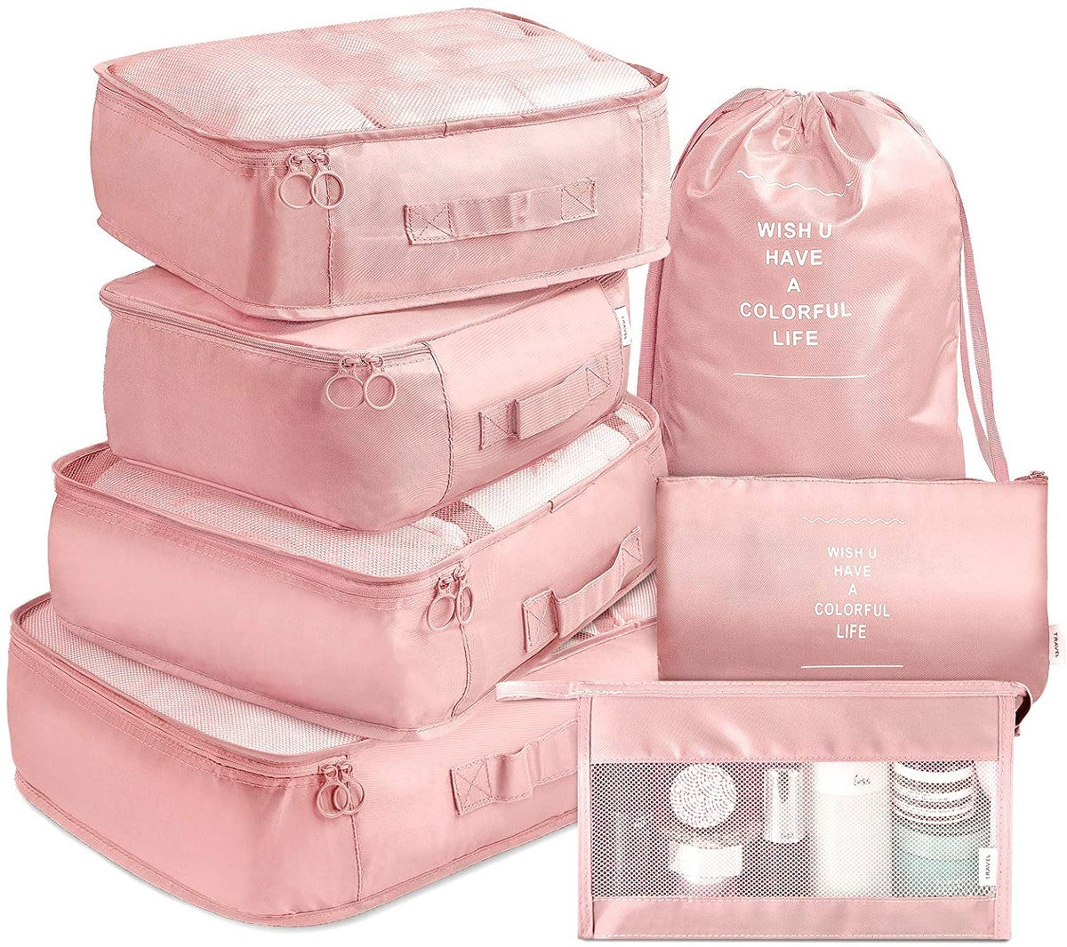 VAGREEZ Packing Cubes Set With Toiletry Bag (7-Pcs)