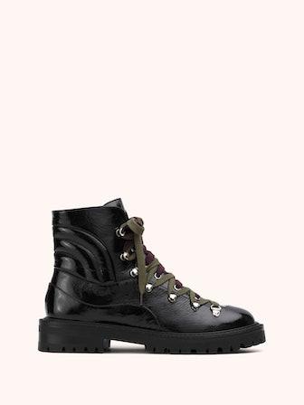 SLALOM Semi-Patent Black Boots