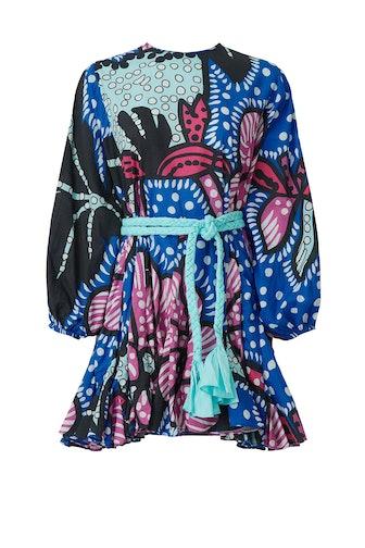 Blue Printed Ella Dress