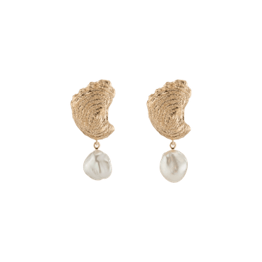 Venus Organic Pearl Gold Earring Large