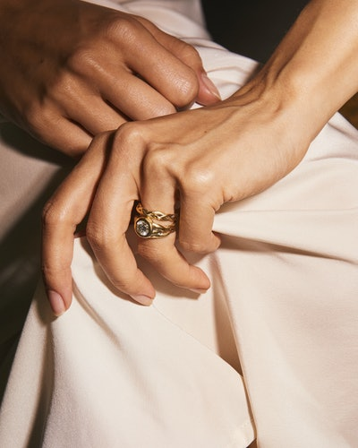 Pamela Love's new Ceremonial jewelry collection is full of not-your-typical weddings bands and engagement rings.