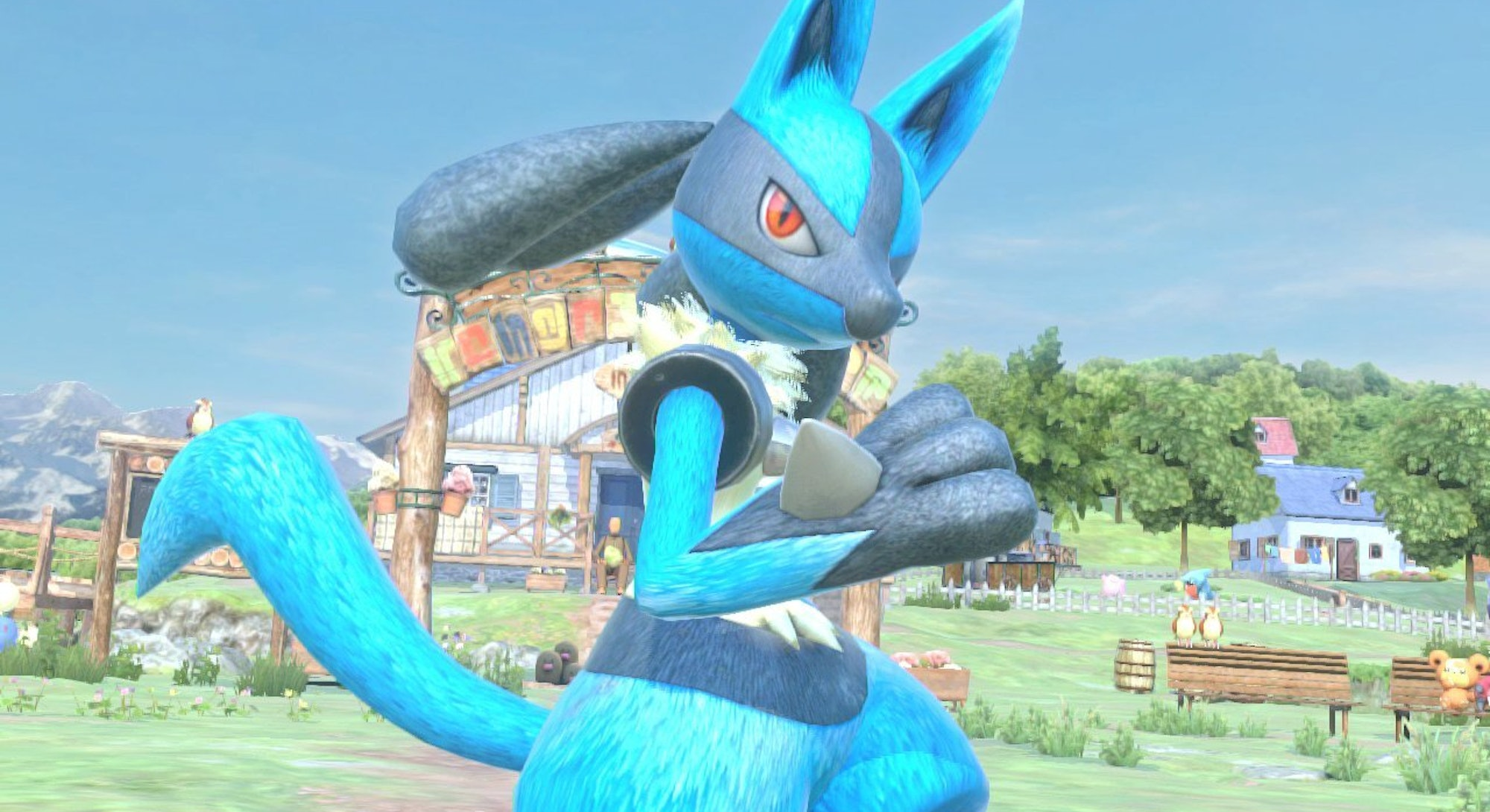 lucario from pokken tournament dx