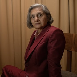 Ma Anand Sheela in 'Searching For Sheela,' via the Netflix press site.